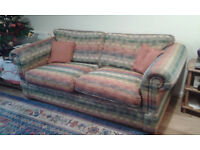 Sofabed, VGC, multi-fabric, Double bed metal frame £299.00 ono.