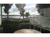 Rockley Park 3 bed Prestige Caravan with large decking area and panoramic sea views