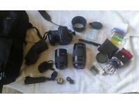 Sony Alpha A200 Digital SLR Camera + Accessories Bundle