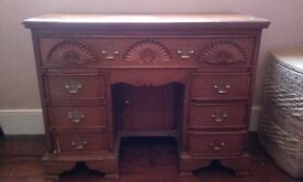 Mahogany Solid Handmade Writing Desk - Vintage Style by Cachet, Reception/Office