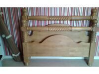 King Size Pine Bed for Sale
