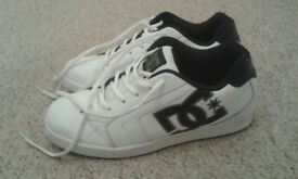 White DC skater trainers, new, size 10
