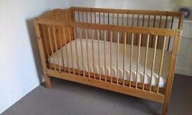 Cot bed with mattress in good condition
