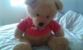 large teddy bear red shirt