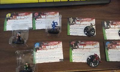 Horrorclix lot of 14 figures, tokens and plot twists