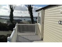 Haven 5 star Rockley Park Prestige Caravan with decking and panoramic sea views