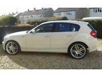 bmw 120d-se 2008 white/black leather,swap/p/x focus st3/astra vxr/mk2 audi tt/impreza/ect