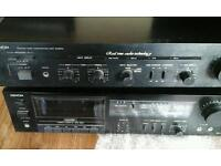 Denon amp and tape deck for spares or repair