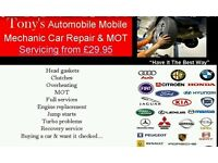 T&A Mobile mechanic & MOT car servicing 20 years experience can save you money