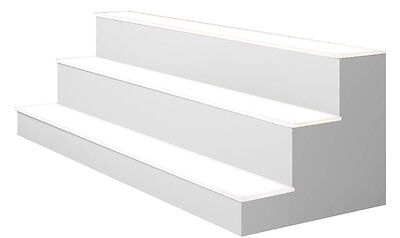 40 3 Tier Led Lighted Liquor Display Shelf - White Finish