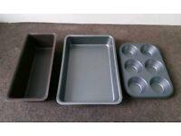 Various baking trays