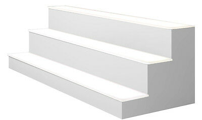 24 3 Tier Led Lighted Liquor Display Shelf - White Finish