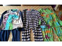 3 pairs of 6-7 year old M&S dinosaur pyjamas