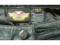 Leather Jeans- 28'' waist Harley Davidson