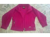 Trespass girls pink fleece age 3-4