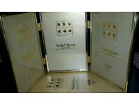 RIPLE 4X6 IN FREESTANDING SOLID BRASS PHOTO FRAMES IN BOX