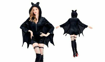 Women's Vampire Halloween Costumes (Women's Cozy Vampire Bat Romper)