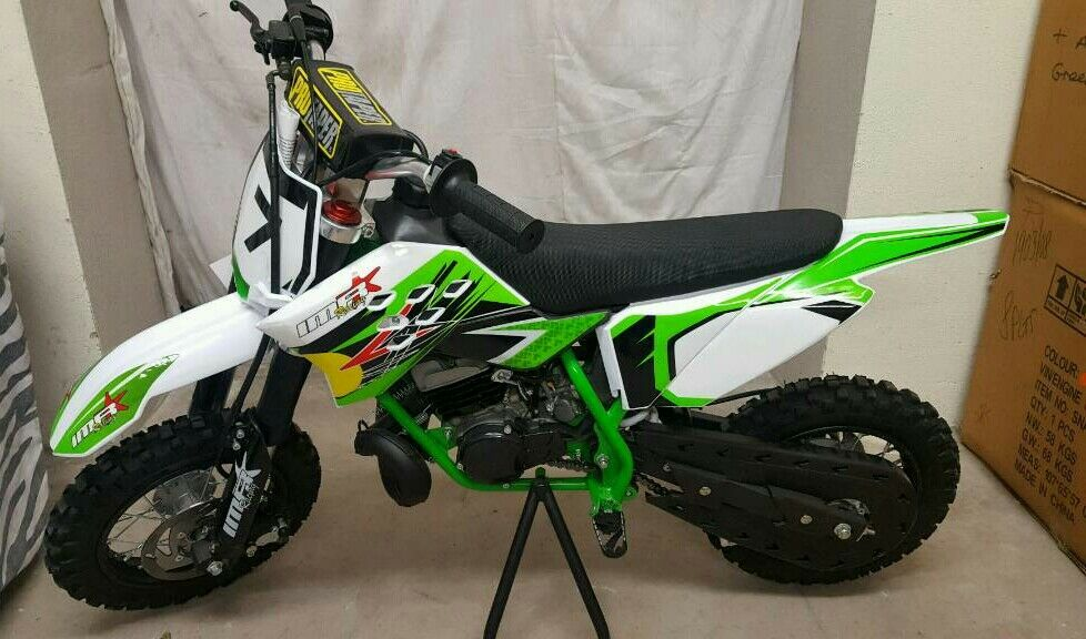Green IMR racing..... 50cc kids mx bikes..... automatic..... ktm ...