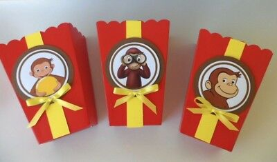 Curious George Party Bags (Curious George  Party favors/ goodie bags/ Popcorn Candy Box SET OF)