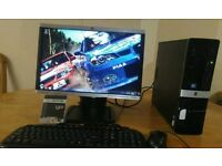 """HP 3010 Small Form Desktop PC Tower HP 20"""" Wide Screen With WIFI"""