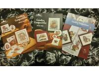 3 country companion cross stitch booklets