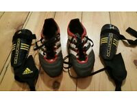 For sale are pair of the Adidas boots and pair of the Adidas Predator boots.