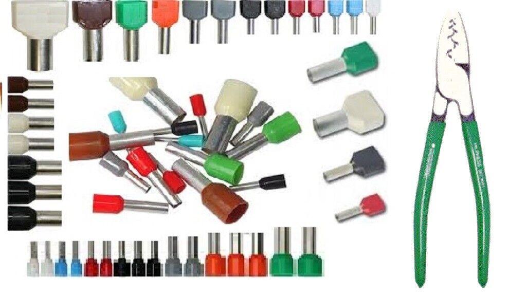 embout de cablage, embout  fil souple isolé  0.5 mm²  à  25 mm² simple ou double