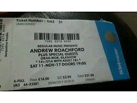 Andrew Roachford Tickets x2