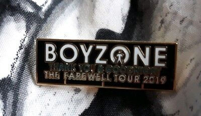 Boyzone 2019 Final Tour PIN Badge VERY RARE BADGE PROTOTYPES FOR COMING TOUR