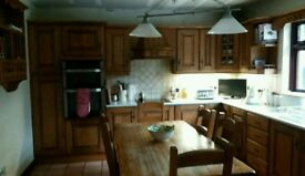 Solid Antique Oak Kitchen For Sale