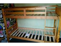 bunk bed pinewood with fitting(brand new flatpack )