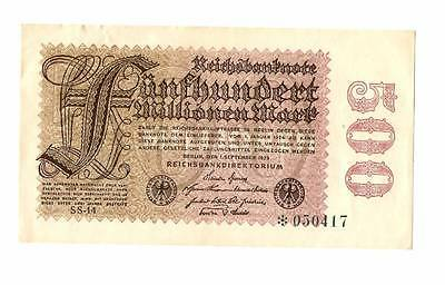 1923 Germany Weimar Republic 500.000.000 / 500 million mark banknote