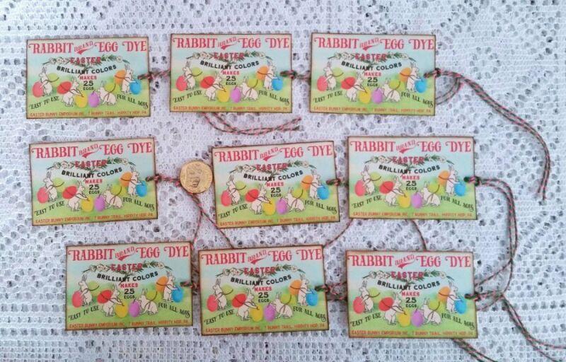 9~Easter~Vintage~Primitive~Label~Linen Cardstock~Gift~Hang~Tags~Ornies