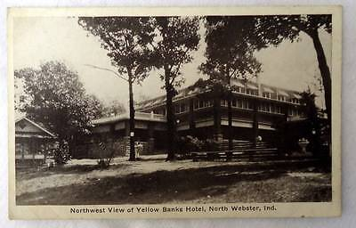 Postcard Northwest View Of Yellow Banks Hotel North Webster Indiana  7