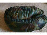 Sleeping bag with hood