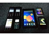 "6 mobile phones plus 7"" tablet and accessories."