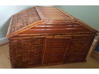 Large wicker storage basket. Linen, towels, toy box,