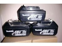 Makita 3amp 18v batteries ( not charging)