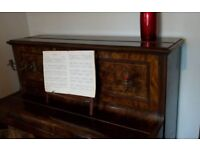 Upright piano (Spencer of London) free to collector. Includes stool and numerous music scores.
