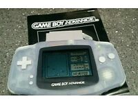 Clear Gameboy Advance complete with one
