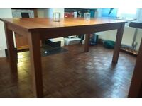 Habitat walnut veneer large extendable dining table
