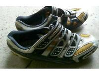 Shimano Carbon sole cycling shoes size 42 and BBB Shimano SL SPD pedals + cleats Trek Cannondale