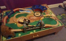 Kids train table