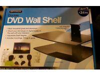 Double DVD wall shelf