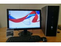 "SSD HP Business PC Desktop Computer &LG 22"" Widescreen Monitor SAVE £30"