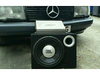 JBL sub and bse amp 3000watts