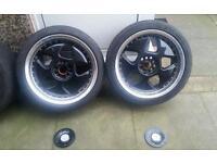 "18"" Genuine Keskin Alloys Mk3 Mk4 Mk5 VW Golf Touran Audi Seat Leon Skoda Staggered"