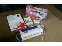 Laminator & pouches in various sizes.