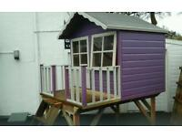 Wendyhouse on table & ladder