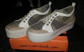 River island ladies platform sole size 6 shoes